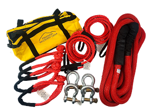 Vehicle to Vehicle Recovery Kits for up to 14500 lb GVW  with K.E.R.R. Rope